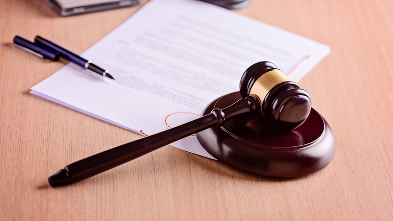 document with gavel