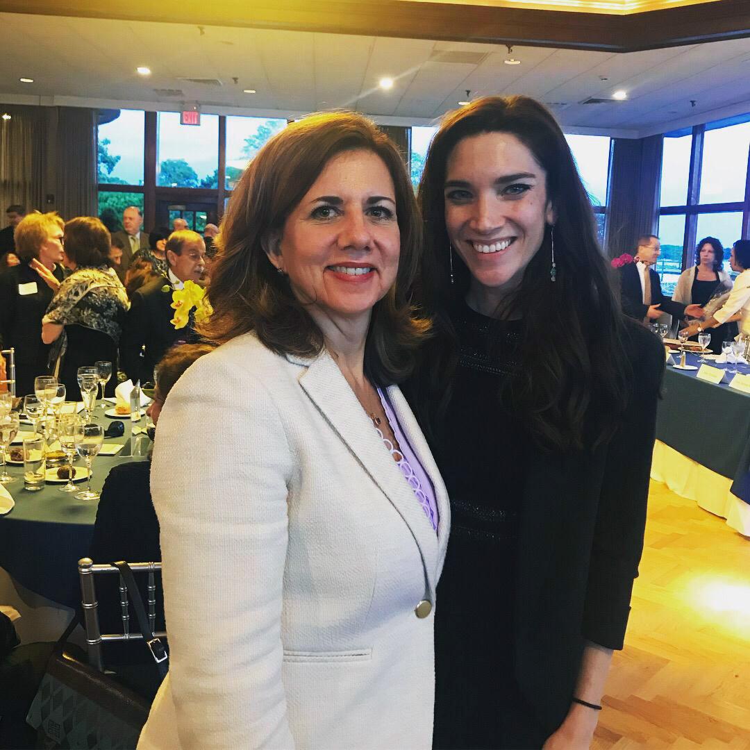 Lucia Chiocchio (left) and Kristen Motel