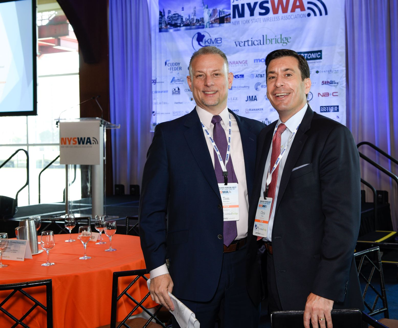 Chris Fisher and Tom Marciano at NYSWA Forum