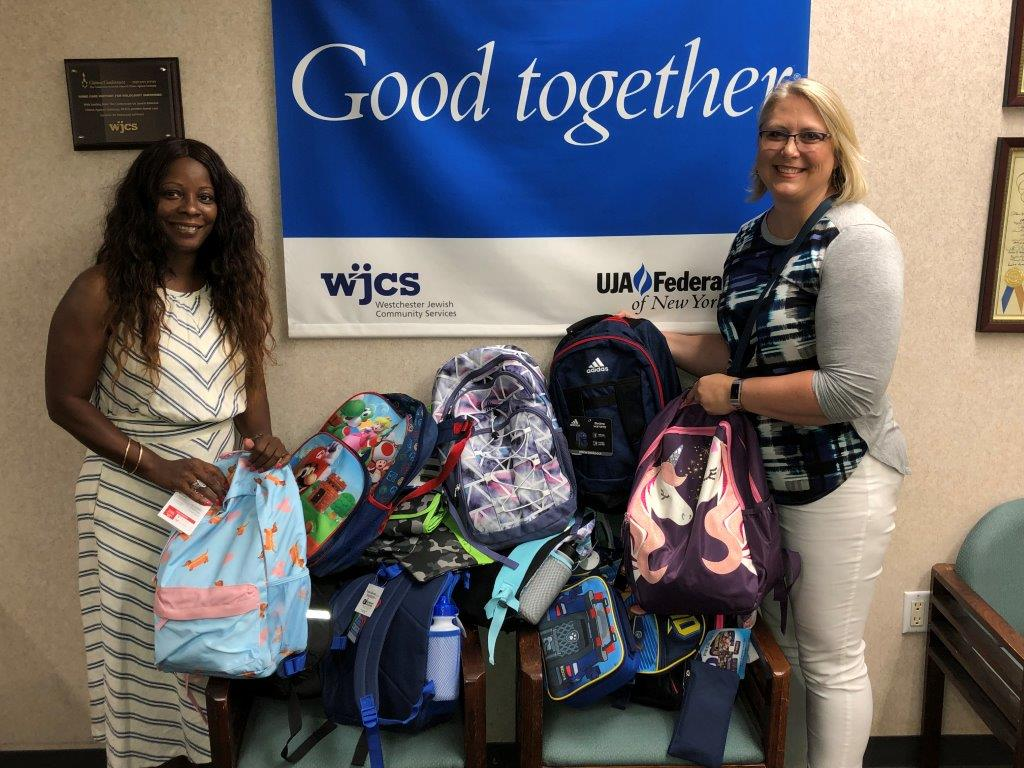 Cuddy Feder donating items to WJCS back to school drive