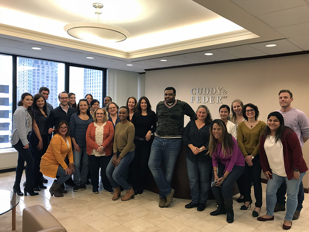 Cuddy & Feder Employees Wear Jeans Day Photo in support of LLS