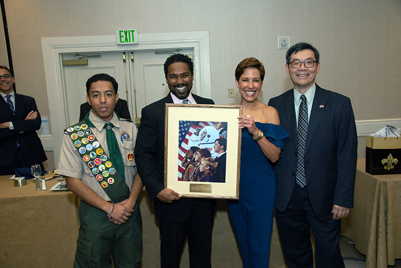 Eon with the Boy Scouts of America